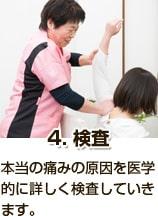 4検査_本当の痛みの原因を医学的に詳しく検査していきます。